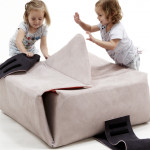 Nicole de Bie, soft box, HOPPETEE, multifunctional furniture, hides clutter, soft stool, minimal box, playing object, Dutch design