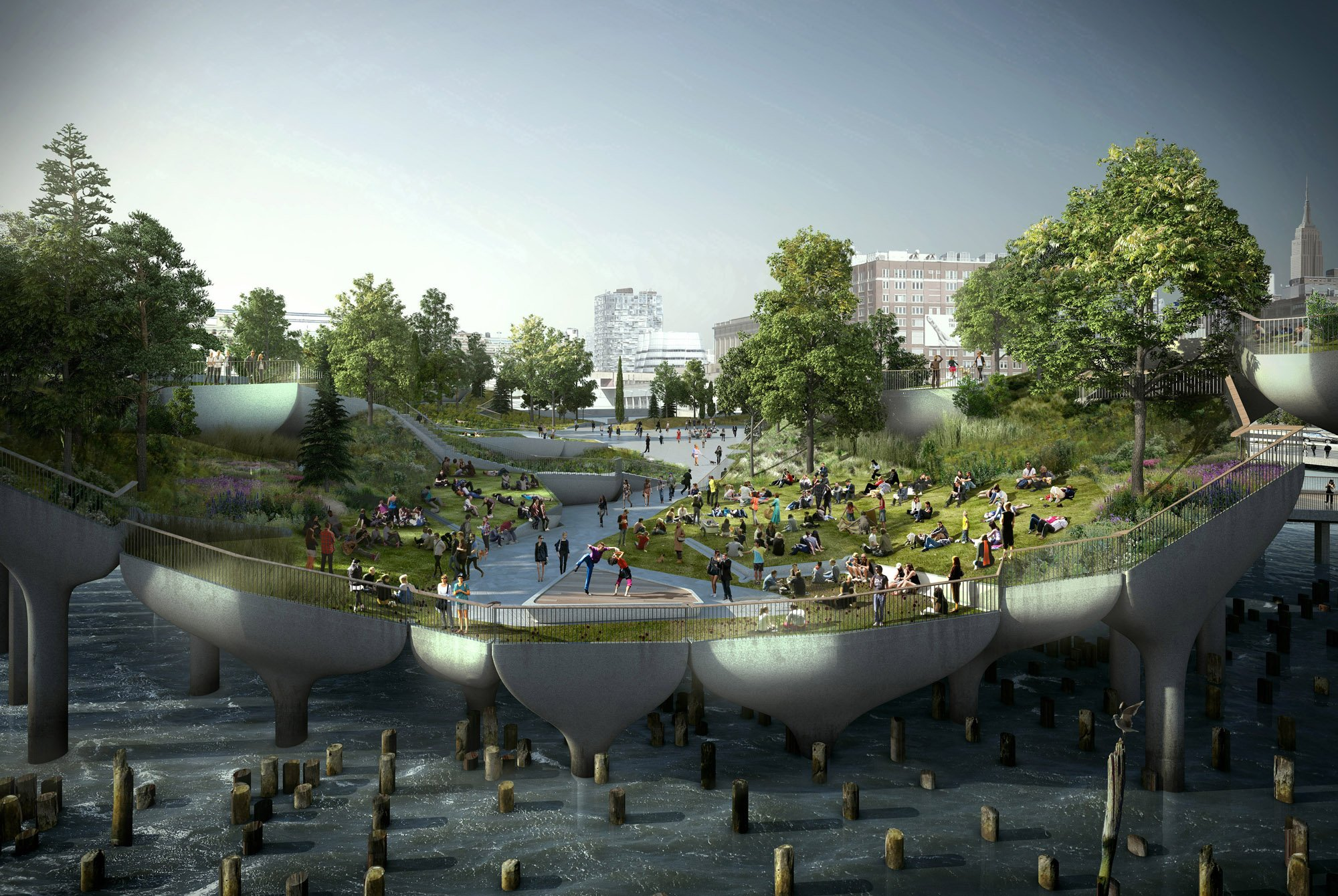 Thomas heatherwick reveals the inspiration behind pier 55 for Architecture 54