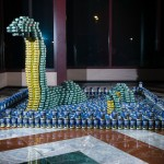 The LoCANness Monster by Robert Silman Associates, canstruction, canstruction 2013, canstruction 2014, canstruction