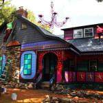 katwise, kat o'sullivan, cartoon barn, cartoon home woodstock new york, crazy artist house woodstock
