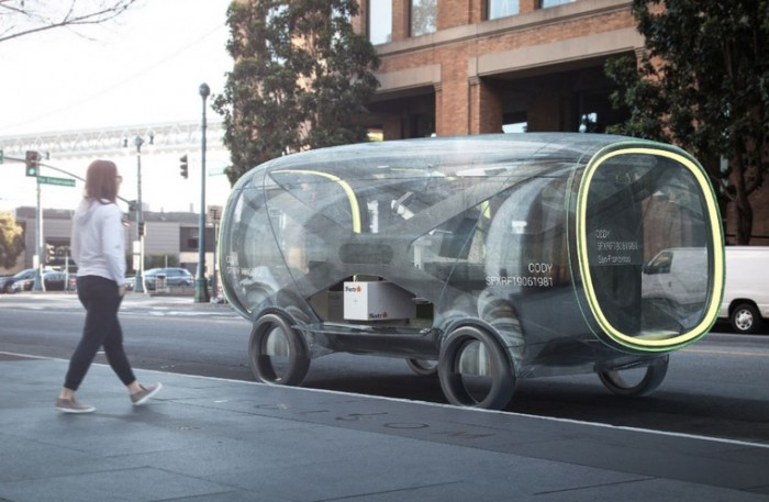 ideo self-driving car concept, autonomous car, self driving vehicle