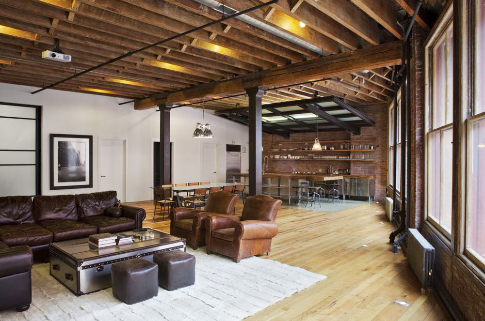 Jane Kim Creates A Rustic Ski Lodge Like Urban Loft Using