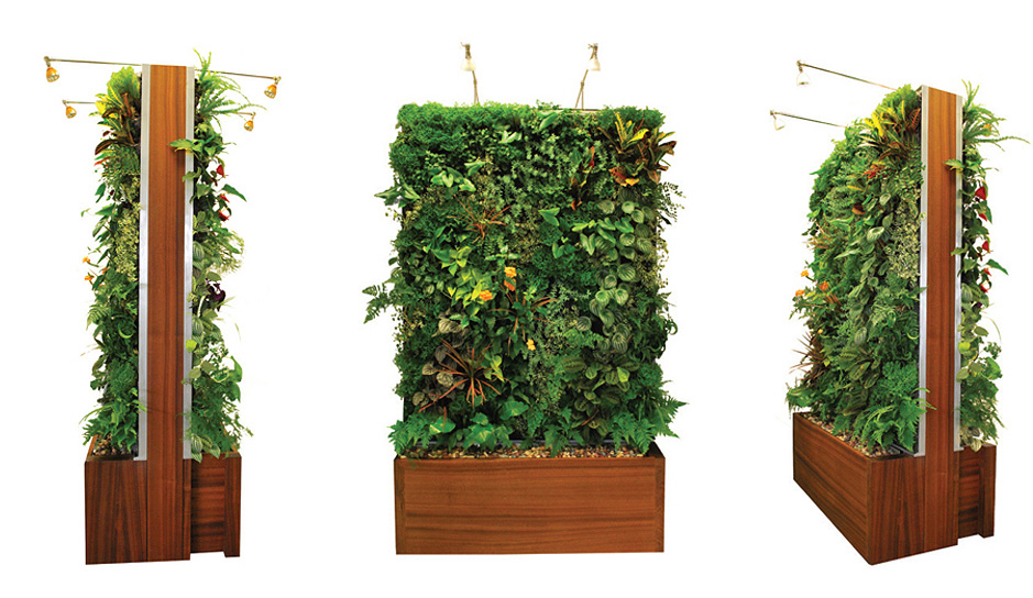 Easily outfit your home in greenery with plant wall design for Vertical garden design