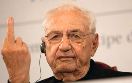 starchitect, starchitecture, quiz, buzzfeed, frank gehry, frank gehry gives the middle finger