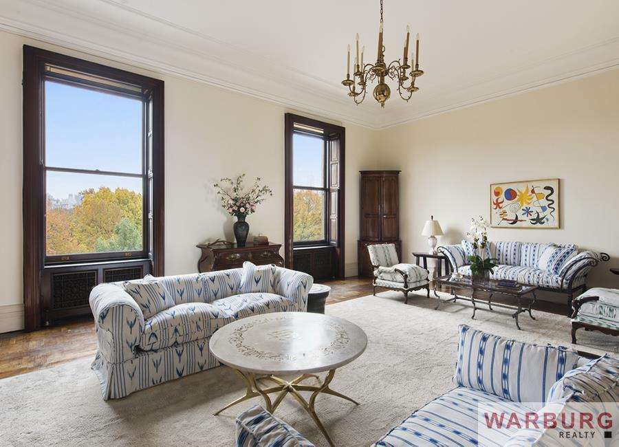 The 26m listing for lauren bacall 39 s dakota apartment is for Dakota building nyc apartments for sale