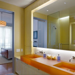 Brooklyn Heights Gothic Revival, bathroom, brooklyn heights townhouse renovation, 1000 architects