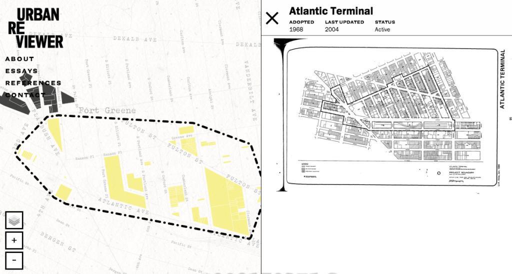 urban reviewer map nyc atlantic center