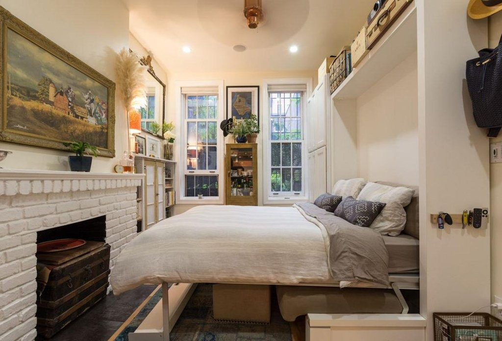 Couple fills a 242 square foot village apartment with for 100 square feet bedroom interior