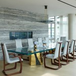 Tribeca Triplex, Amy Lau, glass dining room