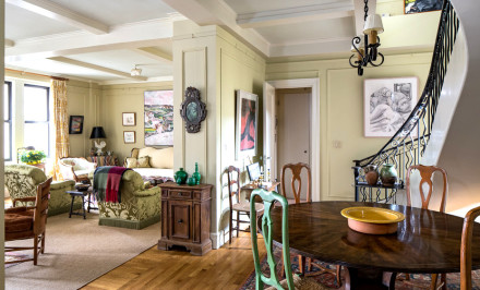 64 East 86th Street, winding staircase, wrought iron banister, abundant closet space