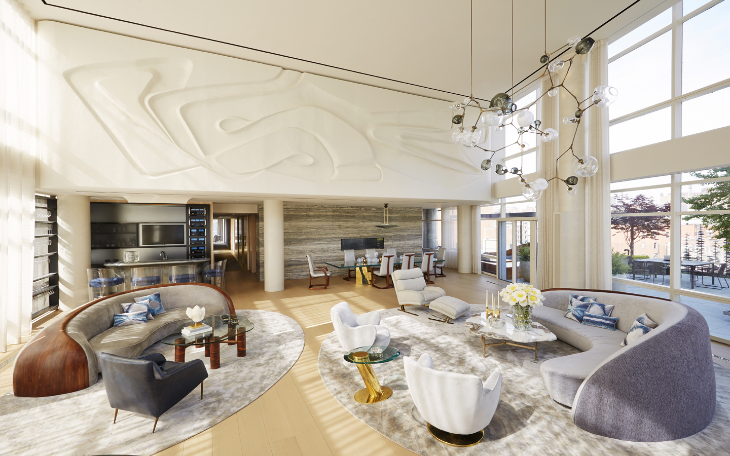 Telecom mogul michael hirtenstein 39 s combines three for Manhattan ny interior designer