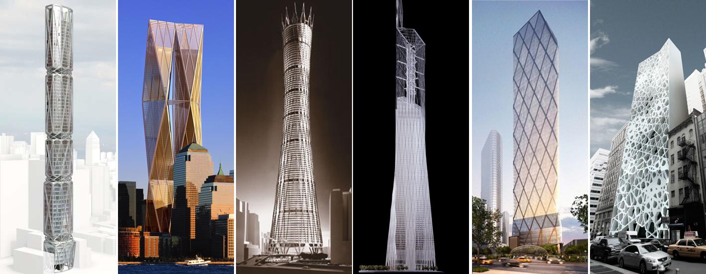 unbuilt Diagrid structures