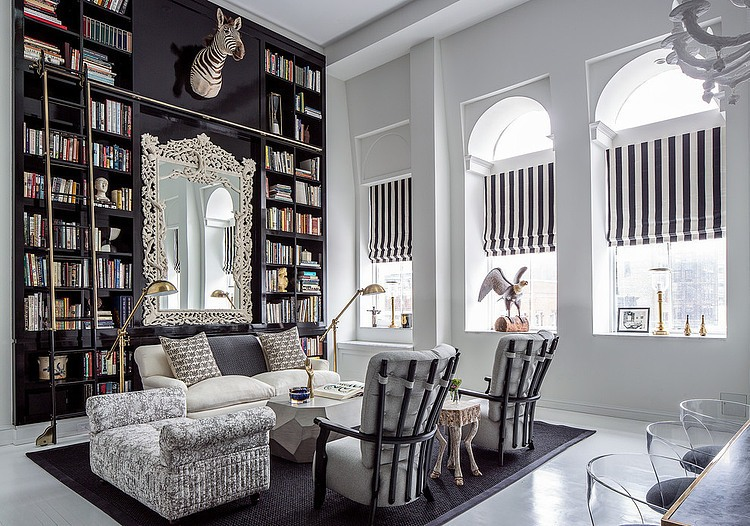 eclectic bond street apartment stuns with brilliant colors. Black Bedroom Furniture Sets. Home Design Ideas