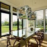 Daniels Lane, Martin Architects, Sagaponack, house extension, modern adition, cedar louvers, passive house, contrasting volumes