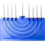 modern menorahs for hanukkah, designy menorahs, modern menorah design, modern menorahs, WATER BLOSSOM MENORA BY ARW CANDLES