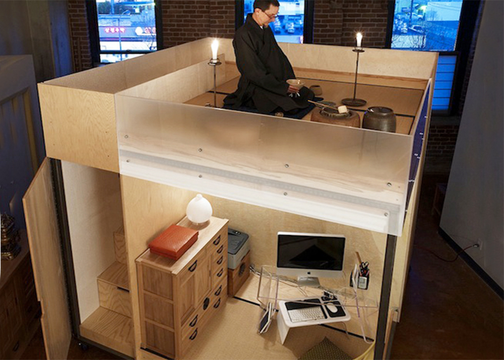 Space flavor 39 s minimal 39 cube 39 provides privacy for studying sleeping and meditating 6sqft - Small space sleeping solutions pict ...