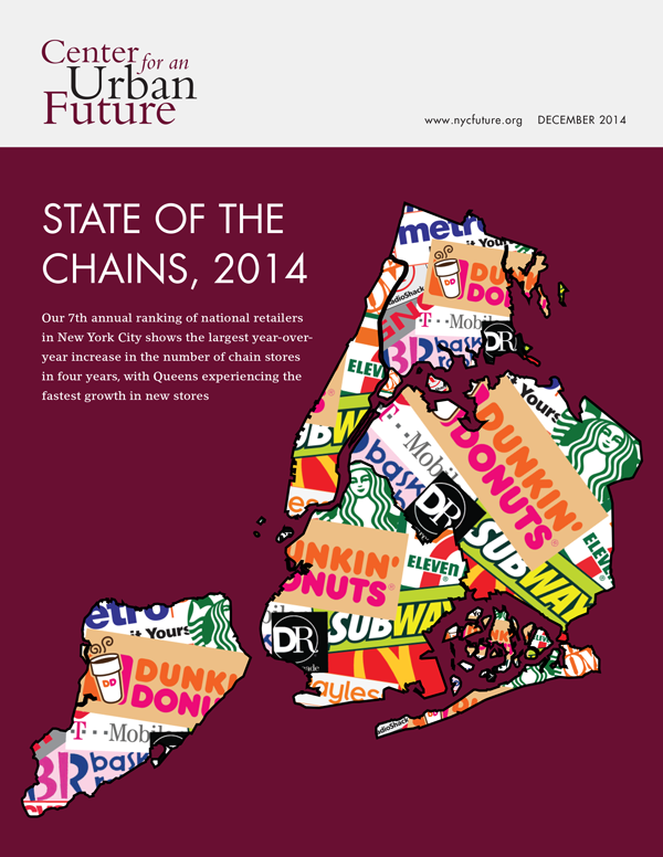 State of the Chains 2014, Center for an Urban Future, NYC chain stores
