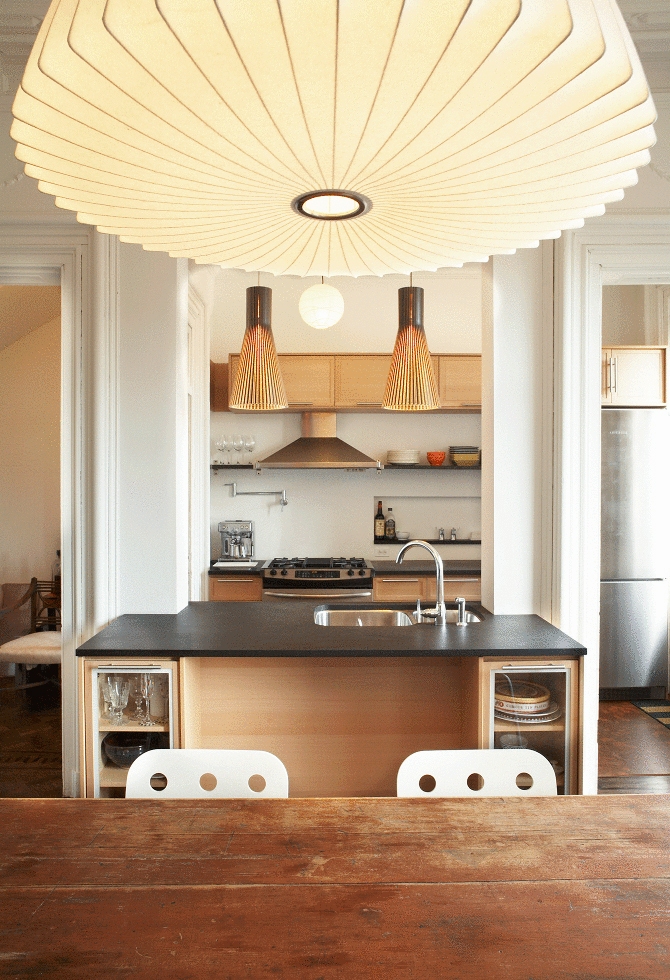 We Design S Brownstone Renovation Melds The Old With Mid