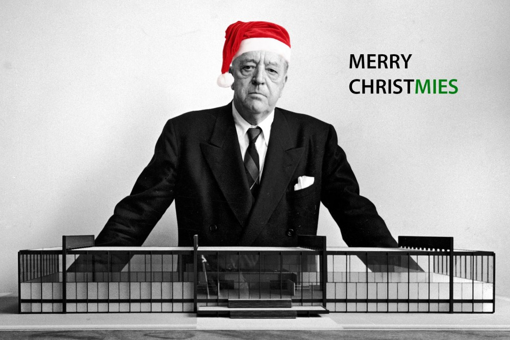 architecture holiday cards, Ludwig Mies van der Rohe