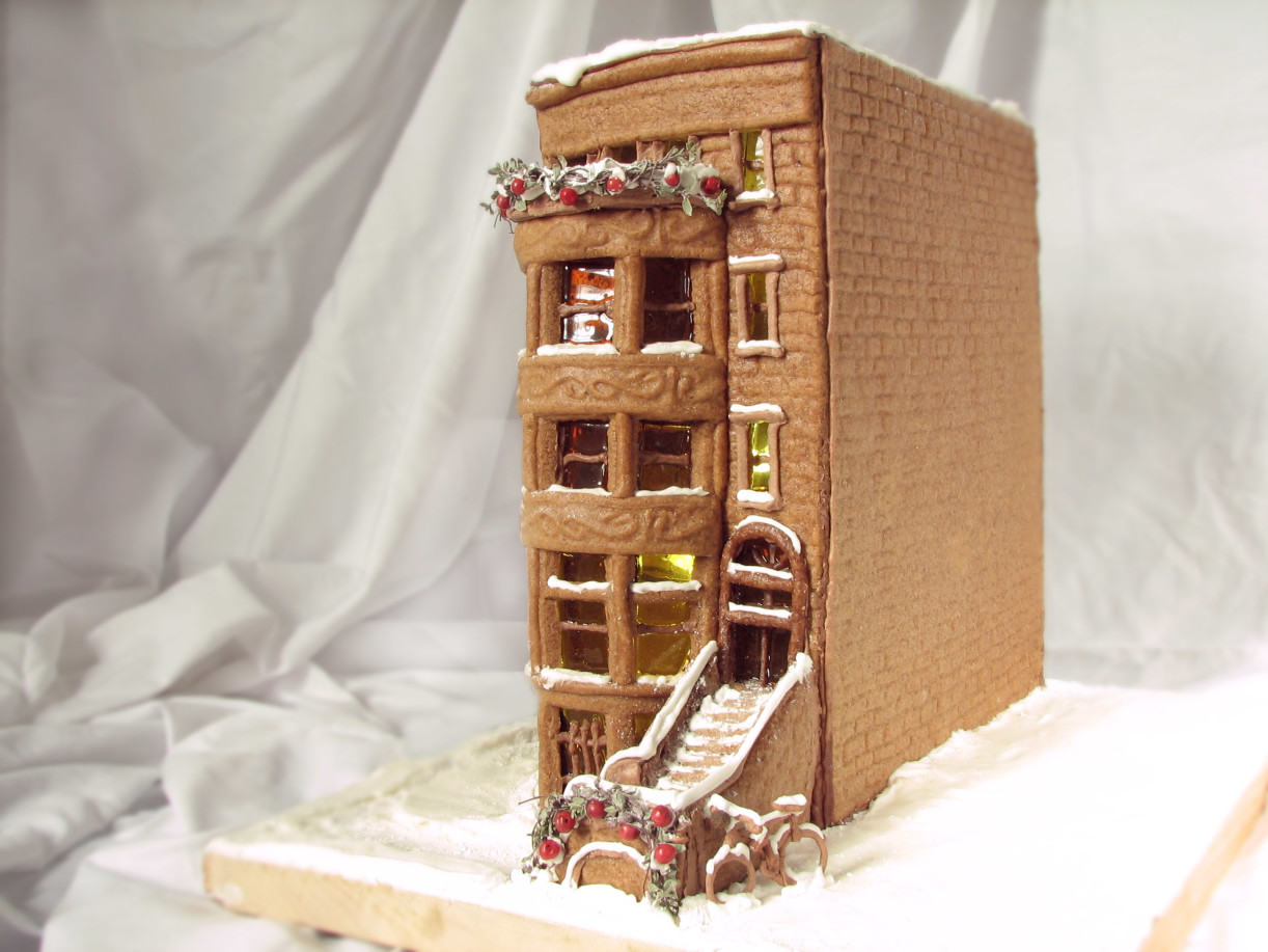 brownstone gingerbread house