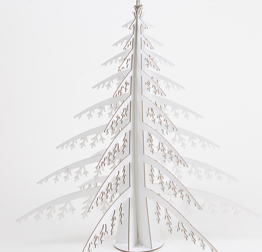 modern trees, holiday, xmas, cardboard safari, Alpine tree
