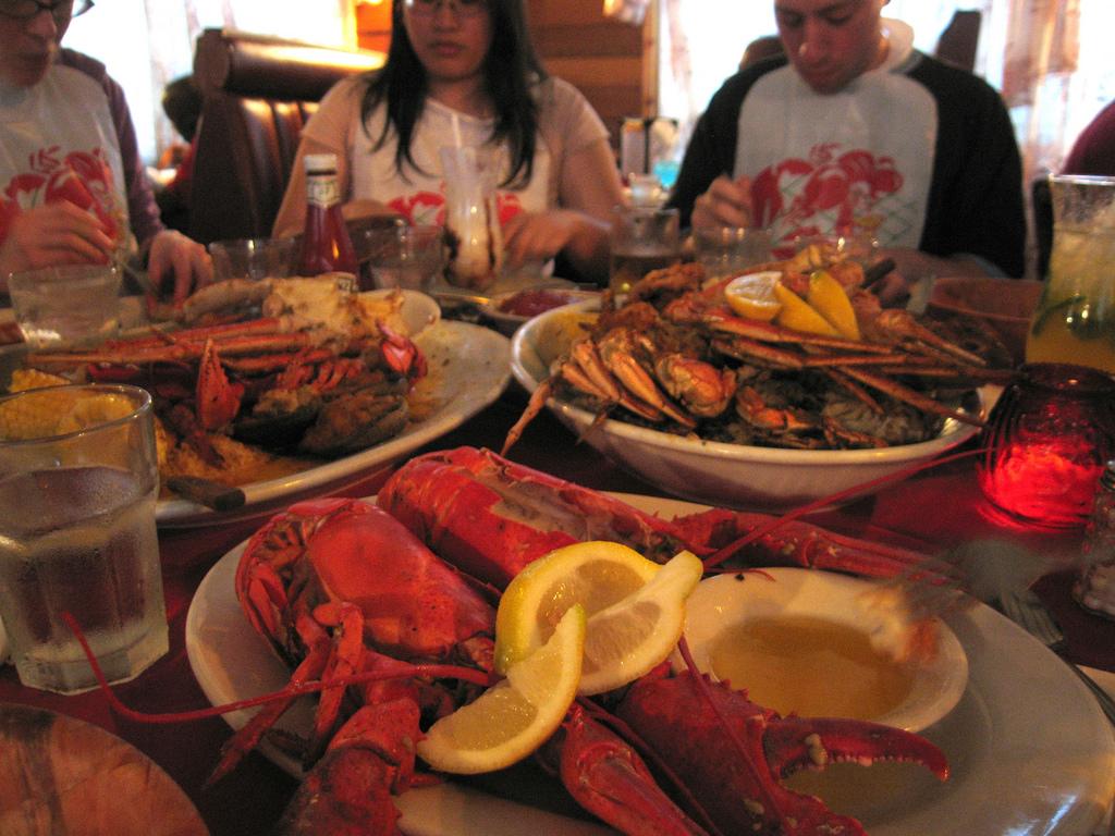 city island dining lobster