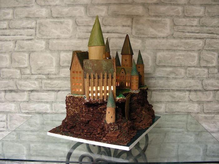 gingerbread, hogwarts, Harry Potter, holiday
