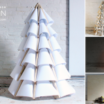 modern trees, holiday, xmas, DIY tree, home depot
