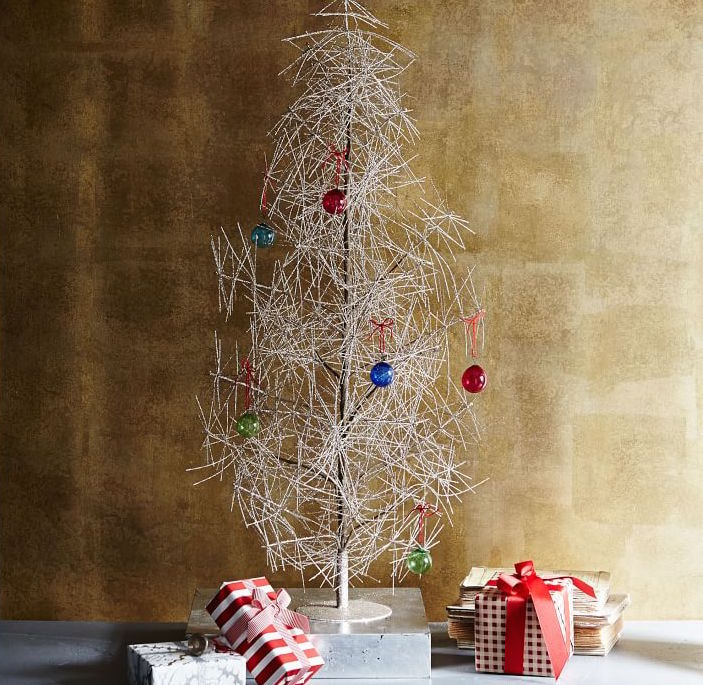 modern trees, holiday, xmas, west elm