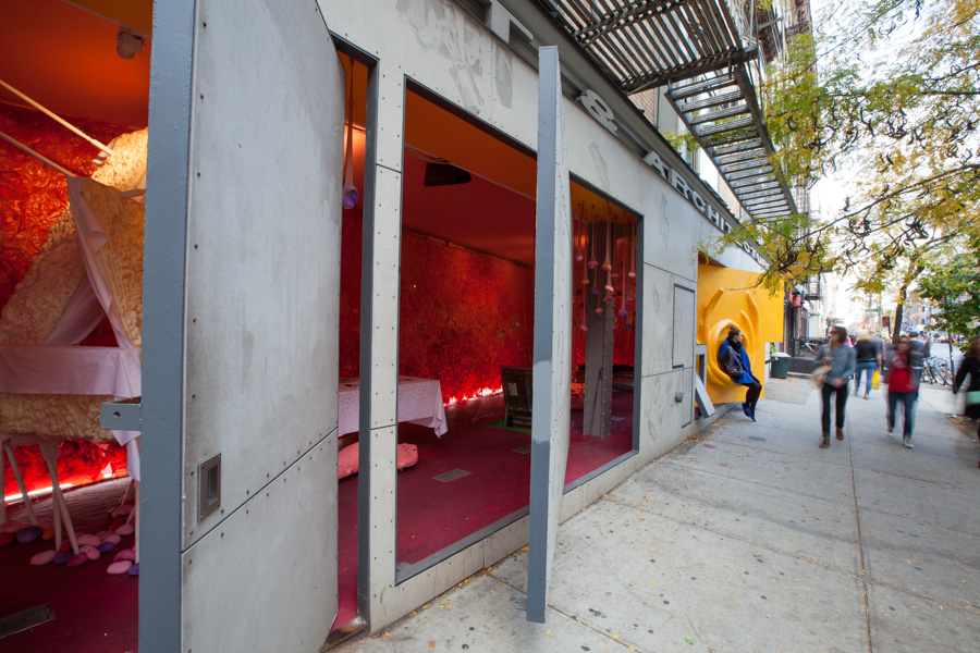 being edible wall at the storefront for architecture