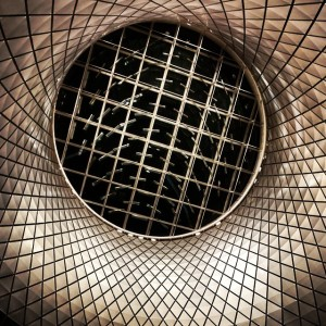 Fulton Center oculus. Wish we were here during the day!…