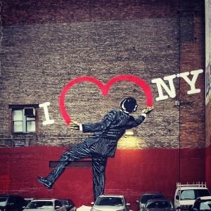 I heart NY. And NY hearts me. #streetart #chelsea #iheartny…