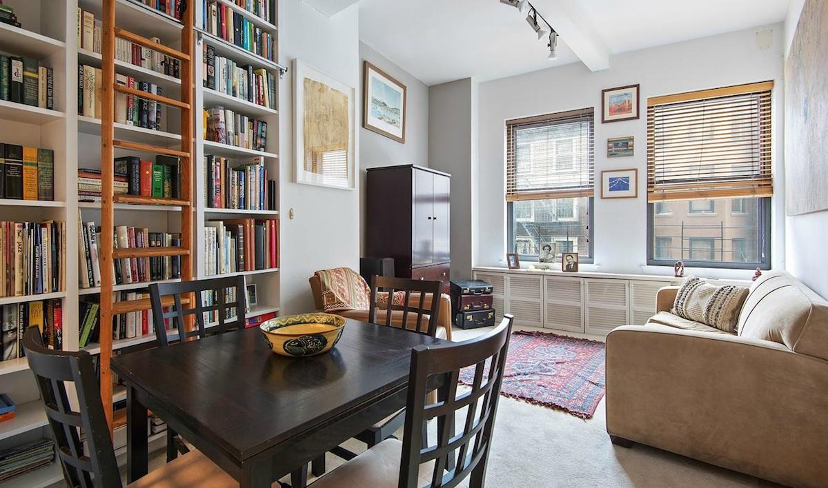 150 Joralemon Street, near Brooklyn Heights Promenade, near Montague Street, built-in bookshelves