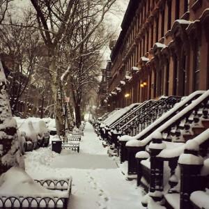 Winter wonderland in Fort Greene. #snow #blizzardof2015 #brooklyn #fortgreene #snowstorm…