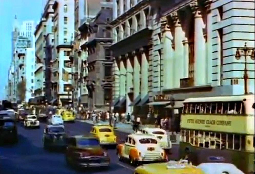 Mighty Manhattan – New York's Wonder City, Technicolor, vintage Manhattan, Fifth Avenue