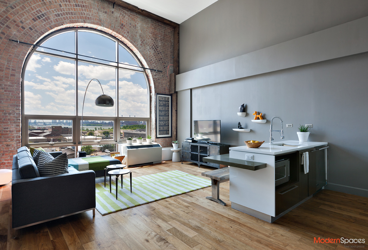 modern long island city loft in the powerhouse asks 1 2m 6sqft. Black Bedroom Furniture Sets. Home Design Ideas