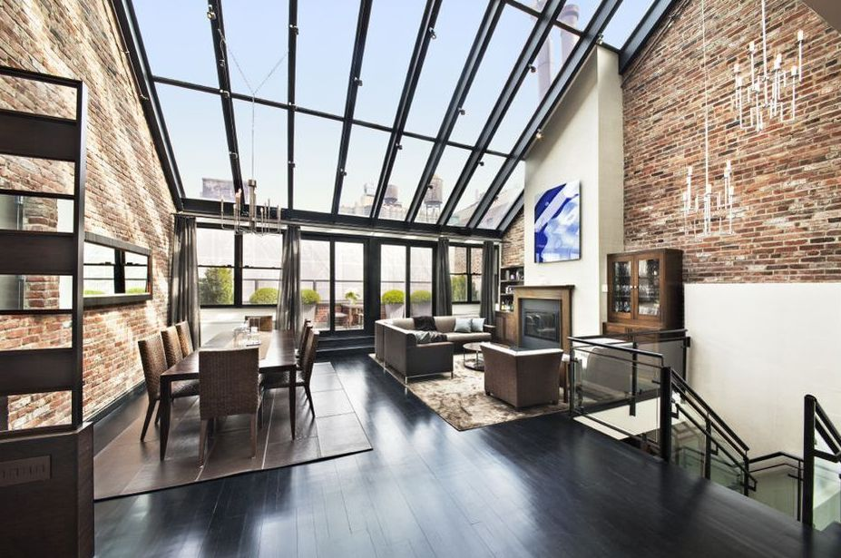 Striking duplex penthouse in north tribeca asks 7 5 for Nyc duplex for sale