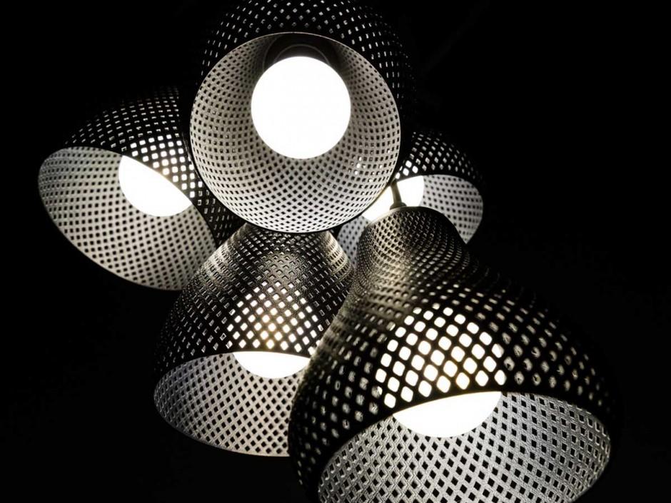 3D-Printed Pendant Lights, The Rumbles, Studio MeraldiRubini