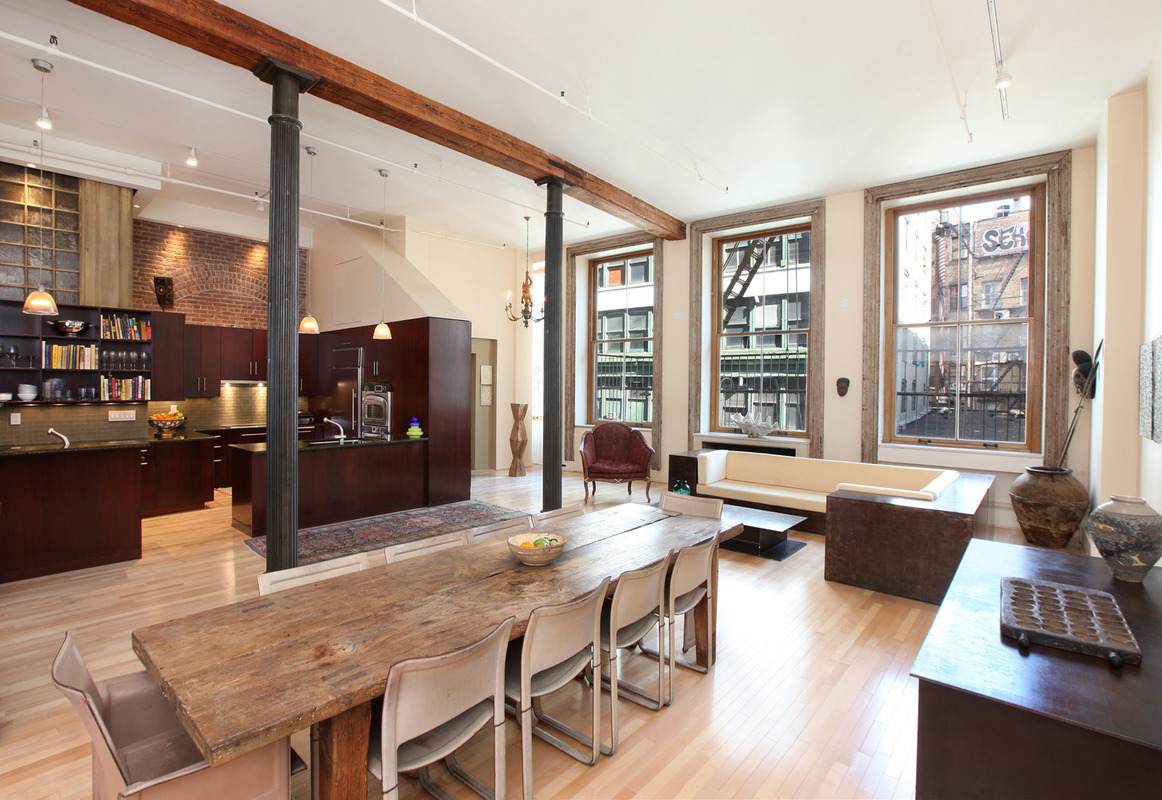 Bachelor pad with pool table asks 3 5 million 6sqft for Apartments in tribeca nyc