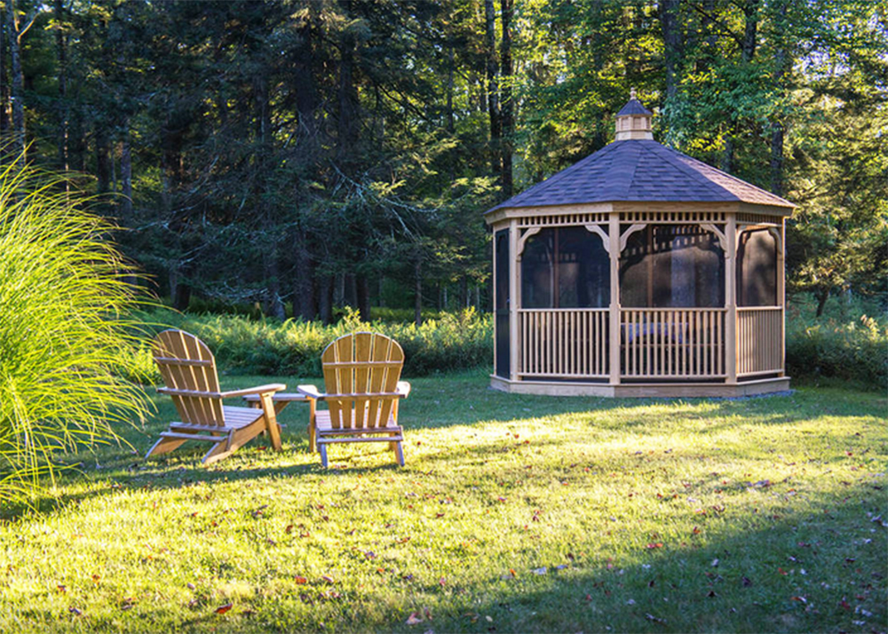 Wooden Gazebo With Fire Pit The Beaverbrook Cottage is a Charming Quonset Hut Retreat ...
