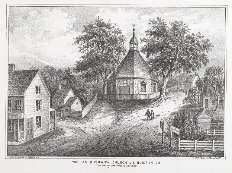 The Old Bushwick_Church_L.I._Built in 1711