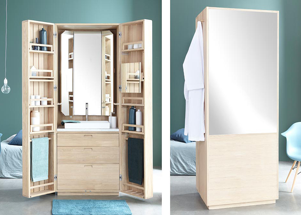 Bathroom Mirror With Hidden Storage