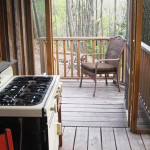 Finger Lakes National Forest, woodland cabin with a loft, all-wood cabin, Finger Lakes Wine Trail, cabin with sauna, dry toilet, loft bedroom, gable roof cabin