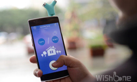 Wishbone thermometer, smart thermometer, Joywing Tech
