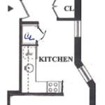 333 West 21st Street, apartments near Chelsea, High Line Park, exposed brick, bookshelves