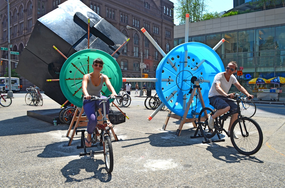 Cyclo-Phone, Stereotank, bicycle art, Astor Place