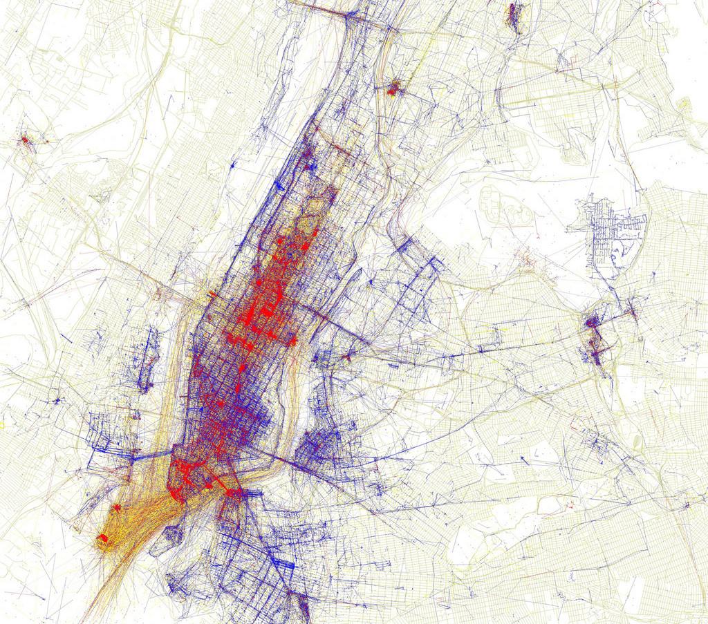 Eric Fischer Tourist and Locals Map