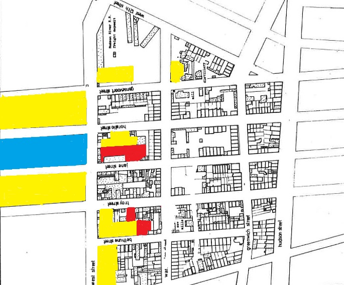 Gansevoort Market, Meatpacking district, Manhattan landfill, historic NYC maps