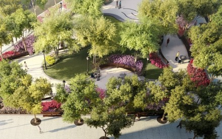Greenwich Village Park, Rudin Management, AIDS memorial, M. Paul Friedberg & Partners
