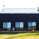 Kimberly Peck, restored barn, Bovina Residence, reclaimed wood, natural light, Bovina, Catskills, structural insulated panels, corrugated aluminum, concrete slab
